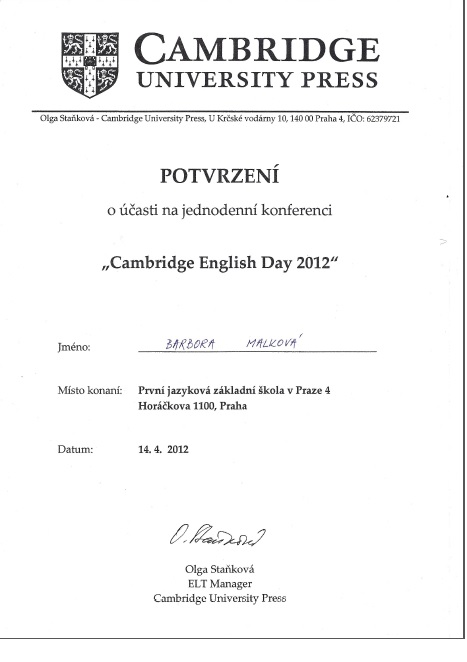 Cambridge english day 2012